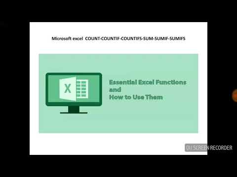 Microsoft excel  COUNT-COUNTIF-COUNTIFS-SUM-SUMIF-SUMIFS