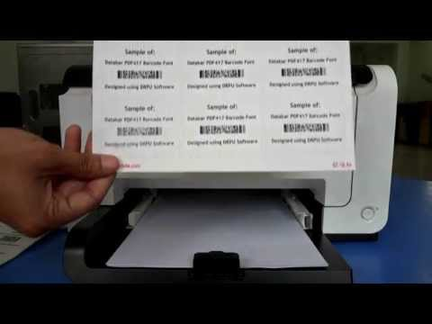 How to create and print barcode labels on different types of barcode sheets