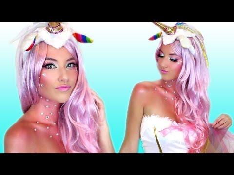 Unicorn Halloween Makeup Tutorial & Costume!