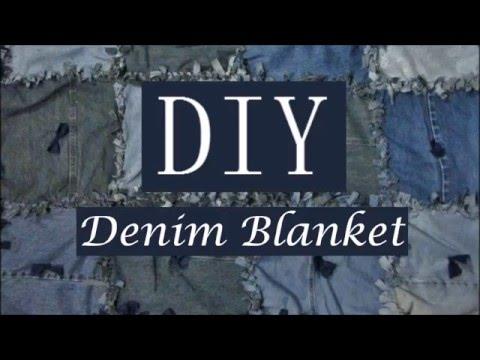 DIY Denim Blanket