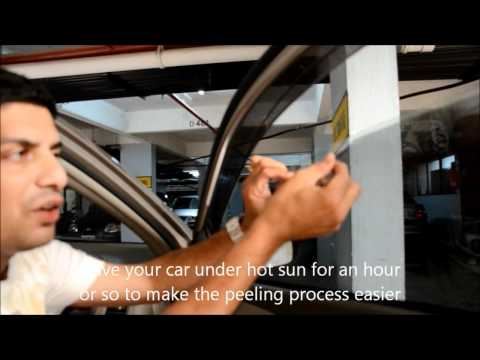 How to Remove Sun Film From Car Windows?