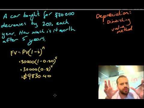 Depreciation diminishing value method
