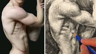 How To Draw The Human Body With Pencil Torso