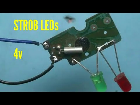 STROB LEDs With OLD WALL CLOCK CIRCUIT