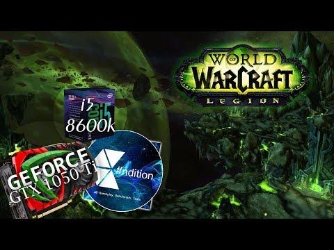 World of Warcraft: Legion 7.3.5 [PTR] | i5 8600k | GTX 1050 Ti 4 GB | FPS graph