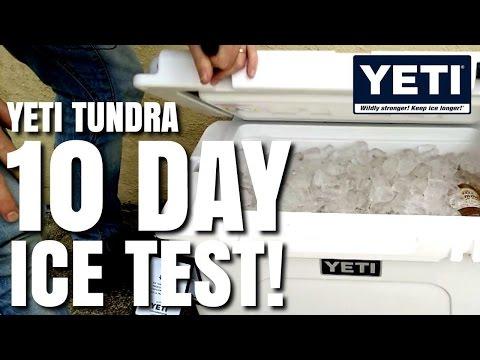 Yeti Cooler 10 Day Ice Test Challenge - Tundra 45 Model