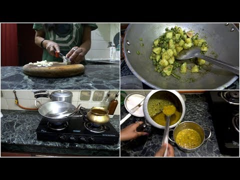 My Thursday lunch routine. My every day lunch making and kitchen cleaning routine. Simple lunch..