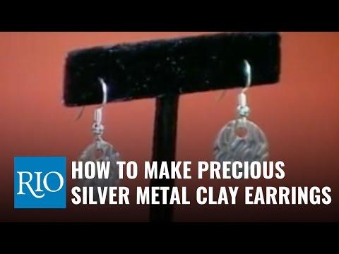 How to Make Precious Silver Metal Clay Earrings