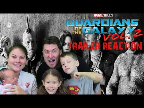 Guardians of the Galaxy Vol.2 - Family Trailer Reaction