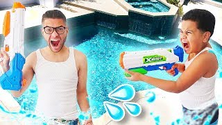 Our First Time EVER In The Mega Mansion Pool! | MindofRez