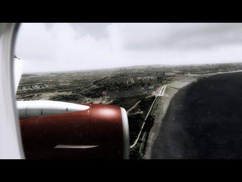 wonderful London City ( EGLC ) approach and landing - Air Berlin Boeing 737-800 - FSX