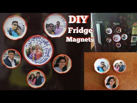 2 Mins. DIY FRIDGE MAGNET | Small Photo Frames | Easy Home Decor