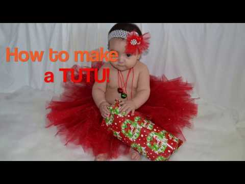 How to make a tutu for Baby DIY!!