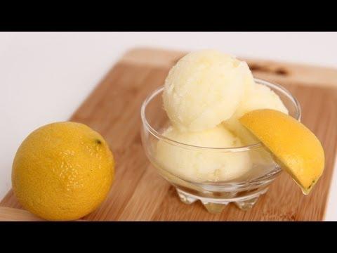 Homemade Lemon Sorbet Recipe - Laura Vitale - Laura in the Kitchen Episode 612