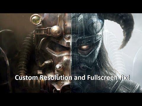 Fallout's/TES Resolution/Fullscreen fix! Windows 10/XP/etc compatible.