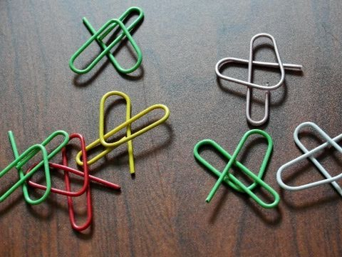 How to make a paper clip heart