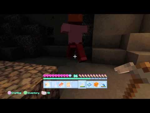Minecraft (ps4) mobs fighting each other