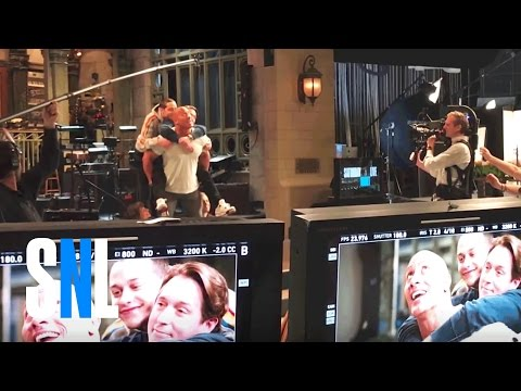 Behind the Scenes of Dwayne Johnson's SNL Promo
