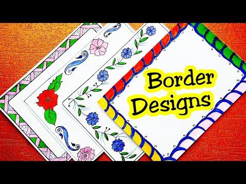 Border Designs On Paper Project Design Border Designs File