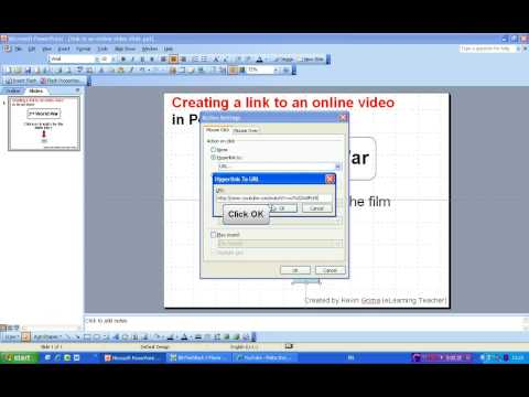 creating a link to an online video in PowerPoint