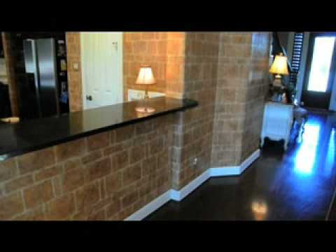 Faux Stone Kitchen Walls with texture