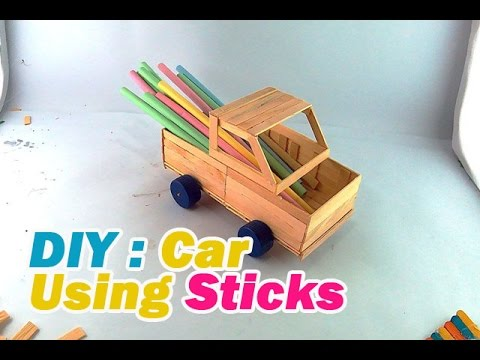 How to make a Car with Popsicle Sticks #8