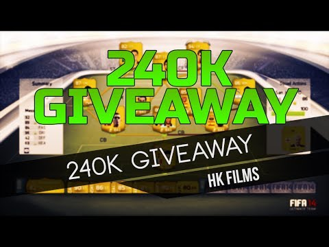 FIFA 14 Ultimate - 240K Giveaway - PS3 & PS4 Only