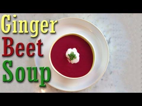 Easy Vegan Recipe: Ginger Beet Soup
