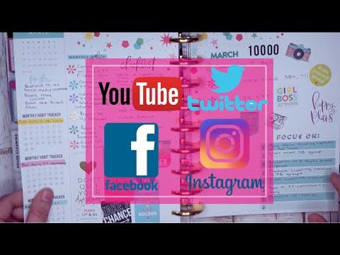 HAPPY PLANNER TRENDSETTER SOCIAL MEDIA PLANNER SETUP + FLIP THROUGH | YOUTUBE + BLOGS + INSTAGRAM