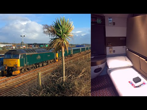 Night Riviera Sleeper Train Penzance - London Paddington in a Double Sleeping Cabin
