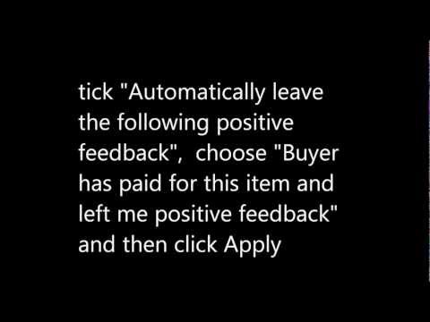 How to leave automatic feedbacks on eBay