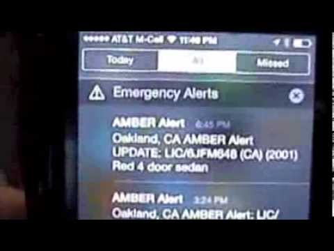 Reading and managing amber alerts on an iPhone