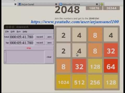 Fastest to get 2048 tile in 2048 game