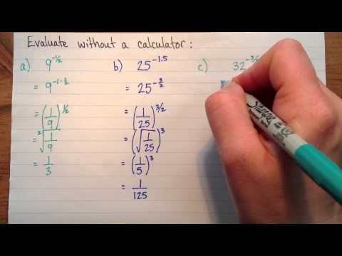 Evaluating powers with negative fractional exponents