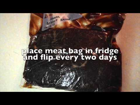 How to make moose brisket bacon
