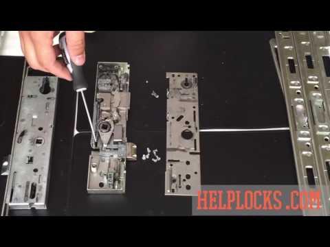 Inside a uPVC door mechanism https://helplocks.com