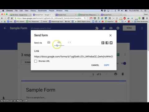 New Google Forms Tutorial - Sharing