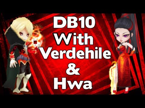 Summoners War - Dragons B10 Team with Verdehile and Hwa - Mid Game DB10 Team