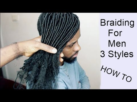 Men's Hair Styles | Braiding For Men | Tutorial Video | HOW TO 3 Hair Styles