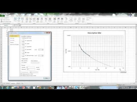 part 2 exel graphing - semi-log & trendline 2013