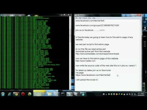 how to find admin page via perl script.avi