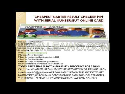 BUY CHEAPEST WAEC, NECO AND NABTEB RESULT SCRATCH CARDS ONLINE
