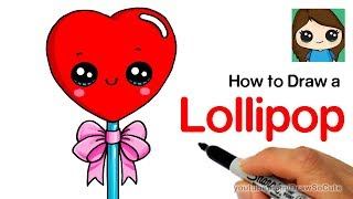 How to Draw a Heart Lollipop Cute and Easy