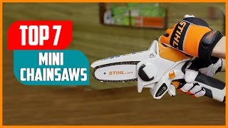 Top 5 Best Mini Chainsaw 2021   Cordless Mini Chainsaw [Review \u0026 Buying Guide]