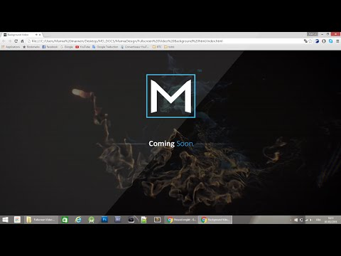 Make a Full screen video background HTML/CSS
