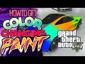 GTA V: HOW TO GET COLOR CHANGING CARS! (RAINBOW PAINT ...
