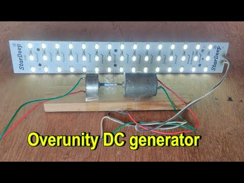How to make a Overunity DC generator using DC motor at home (part-1)