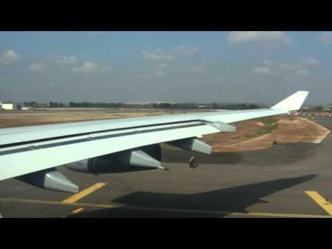 Lufthansa A340-300 Takeoff Tel Aviv Ben Gurion [HD]
