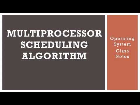 Multiprocessor scheduling algorithm | Operating system, Class notes