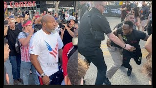 FIGHT NEARLY BREAKS OUT BETWEEN SHANNON BRIGGS & VIDDAL RILEY - WHO LOSES THE PLOT BEING RESTRAINED!
